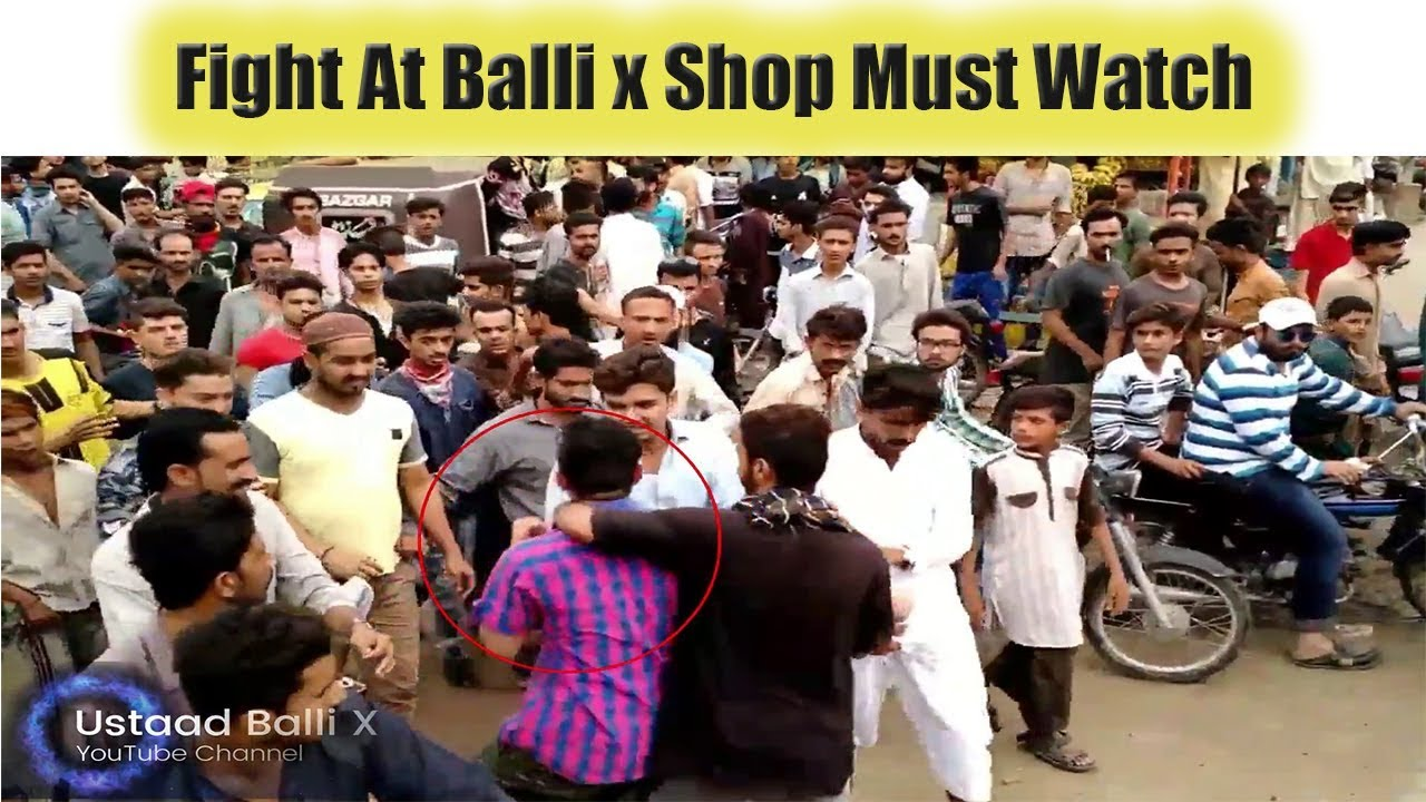 Fight At Ustaad Balli X Shop After Hasnain Vs Haneef Pathan Race At