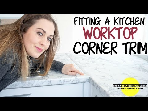 Fitting Kitchen Worktop Corner Joint Trim | The Carpenter's Daughter