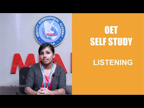 OET Self Study_Listening | Medcity International Academy | Best OET Coaching Center Kannur, Kottayam