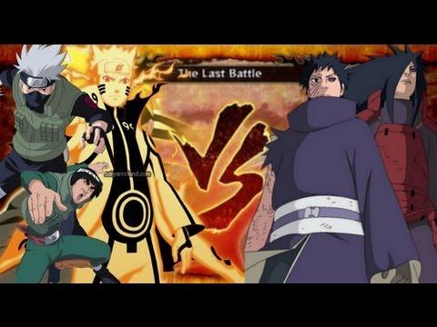 Naruto Storm 3 Obito Madara Vs Naruto Bee Kakashi And