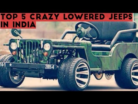 TOP 5 CRAZY LOWERED JEEPS IN INDIA!!! All details and cost of modifications