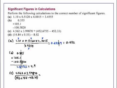 how to use significant figures in chemistry