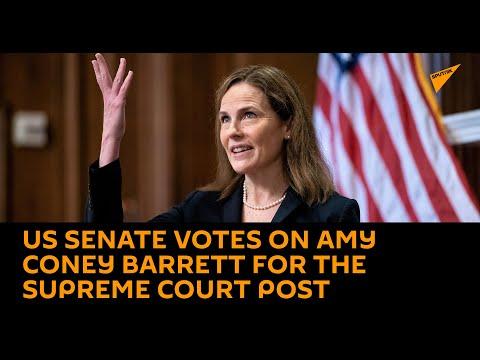 US Senate Votes on Amy Coney Barrett's Nomination for Supreme Court Post