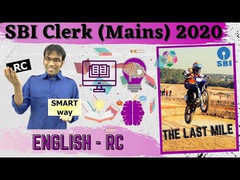 SBI Clerk (Mains) 2020   Reading Comprehension   Smart Way To Solve RC