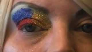 4th of july eye and make up look tutorial Thumbnail