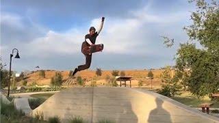 INSTABLAST! - 360 Flip Onto Skateboard !! Insane Boneless, Ollie Attempt Slams !!