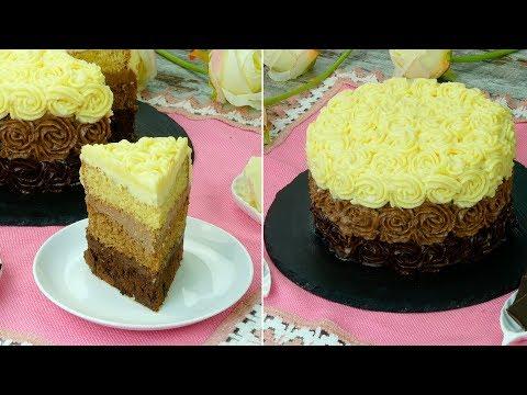 gâteau-«-trio-»-au-chocolat---si-bon-que-vous-demanderez-encore-un-morceau-!-ǀ-savoureux.tv