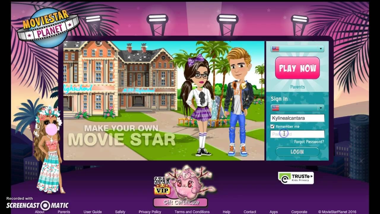Moviestarplanet sign up for free