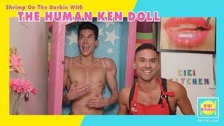 The Human Ken Doll (In Doll Box) Cooks Shrimp On The Barbie - Kiki Kitchen