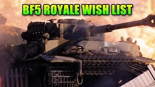 Battlefield 5 Battle Royale Wish List - Changing The Genre
