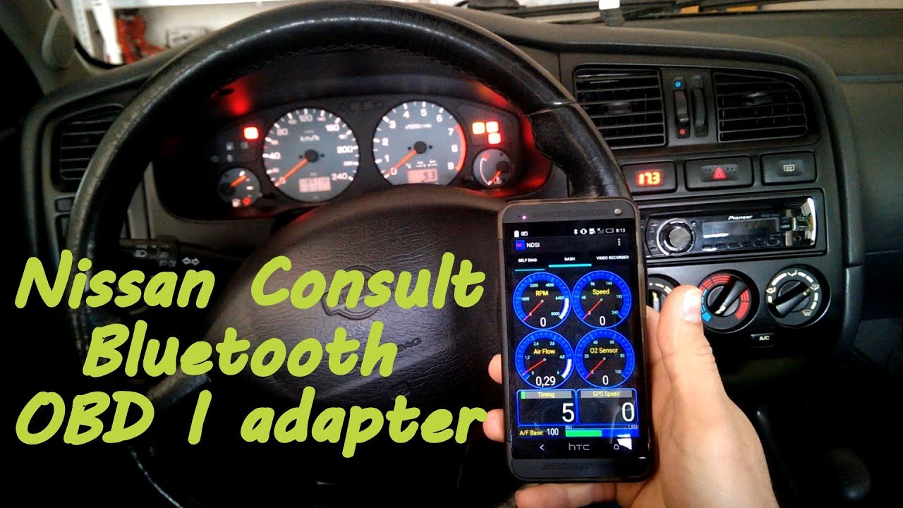 nissan consult obd i adapter nds i bluetooth youtube. Black Bedroom Furniture Sets. Home Design Ideas