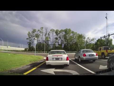 Driving on I95 and I4 from St. Johns County to Sanford, Florida