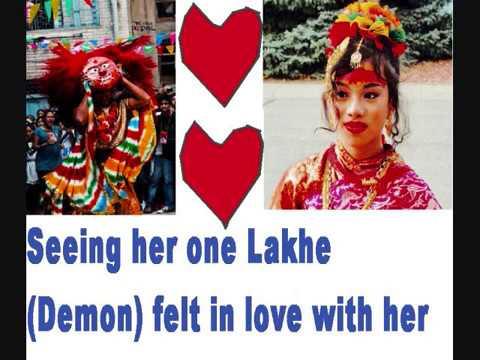 The Love story of Lakhe (Demon) of Indra Jatra.