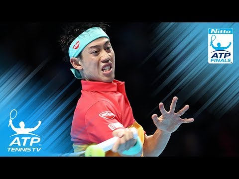 Kei Nishikori backhand WORLDIE & winning moment v Federer | Nitto ATP Finals 2018