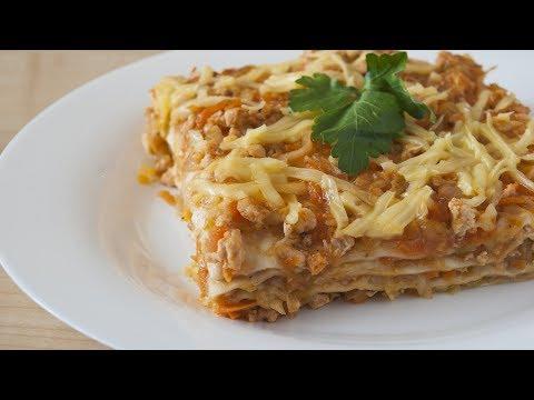 Простой рецепт лазаньи из лаваша с курицей и овощами
