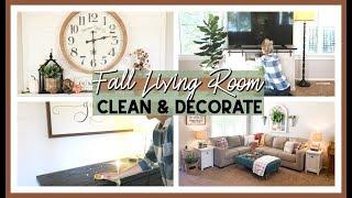 FALL CLEAN & DECORATE 2019 | FALL FARMHOUSE LIVING ROOM DECOR