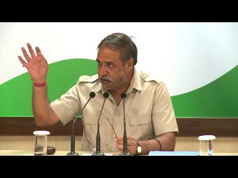 AICC Press Briefing By Anand Sharma at Congress HQ, September 1, 2017