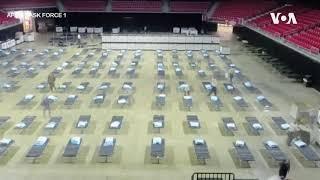 费城天普大学体育馆改建方舱医院