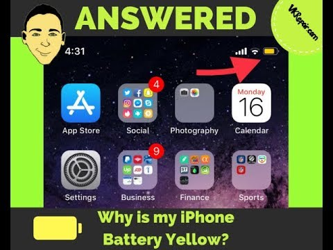 Why Is My Iphone Battery Yellow Answered Youtube