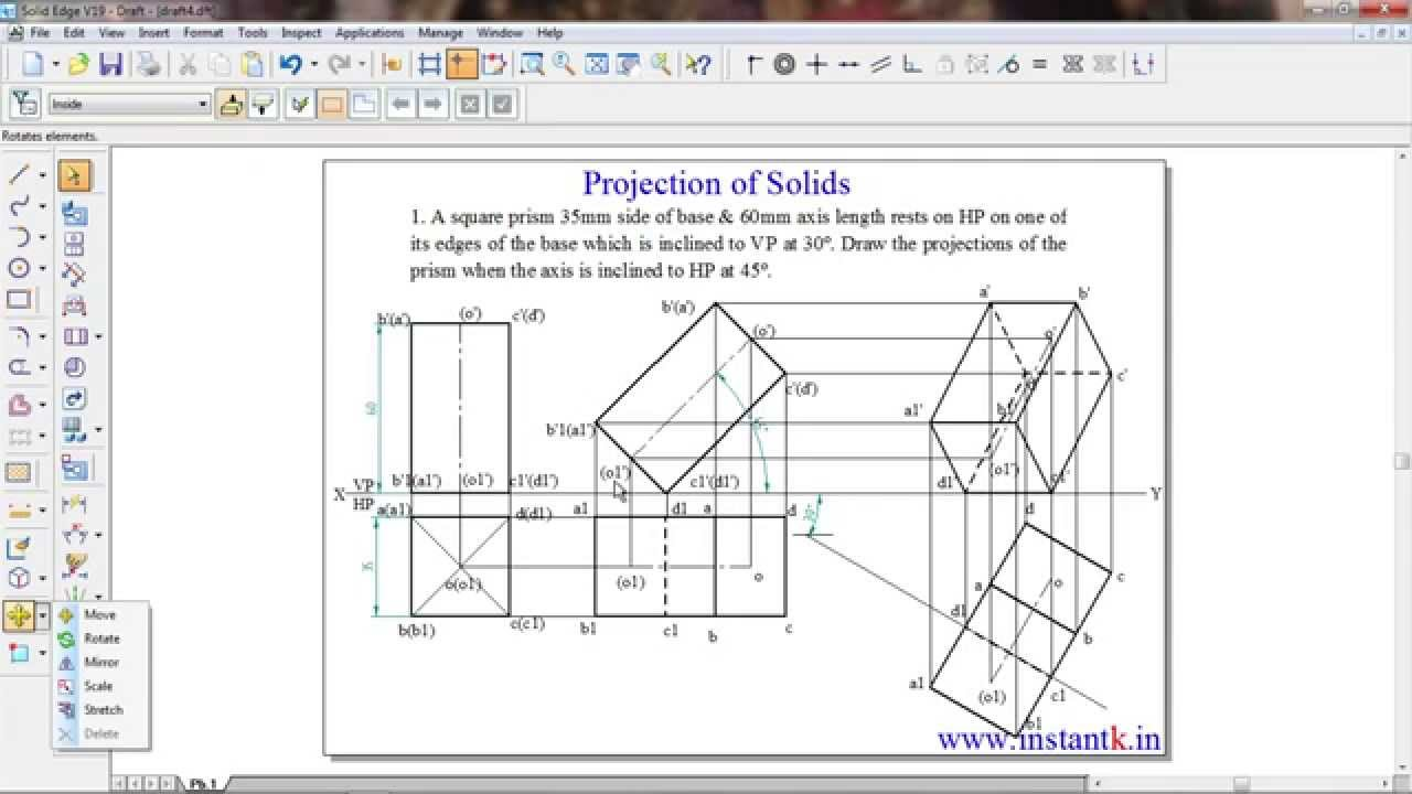 Buy@+91 8088 700800 - 10CDE14: VTU BE: Engineering Drawing: Proj of Solids  : Full Course+Revision