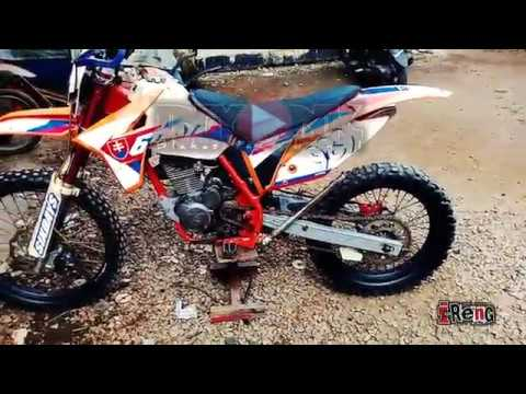 Review Trail modifikasi basic Honda Mega pro body KTM sixday 250 #ireng setiawan