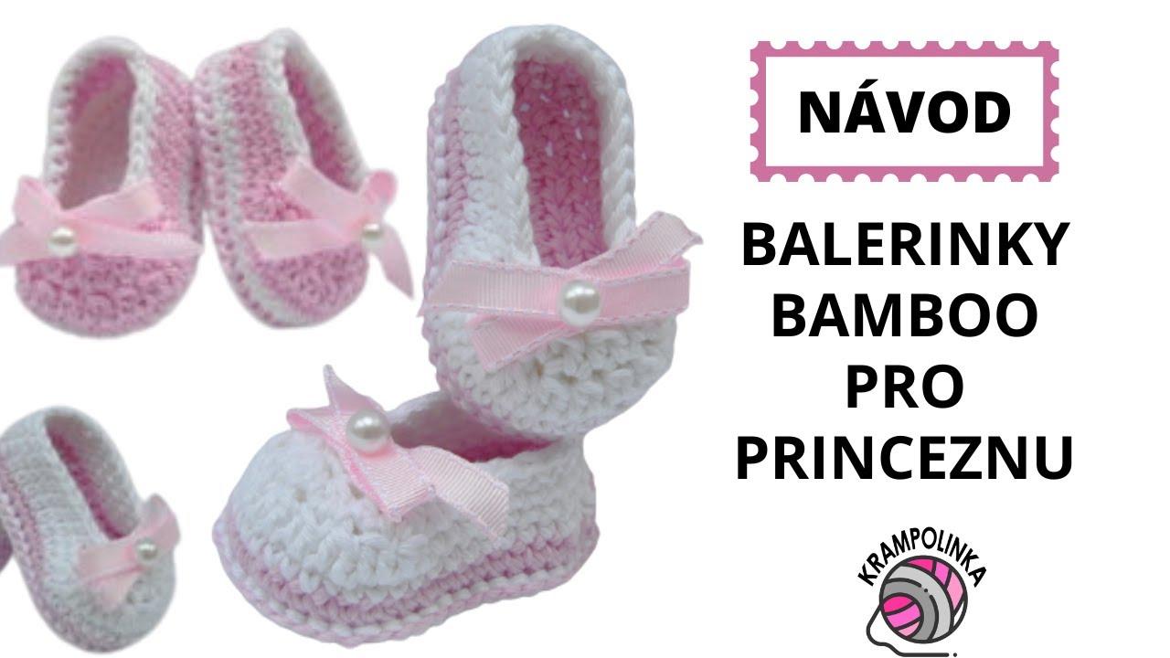 b971ffb4fa7e1 Háčkované balerinky Crochet balerina shoes - YouTube