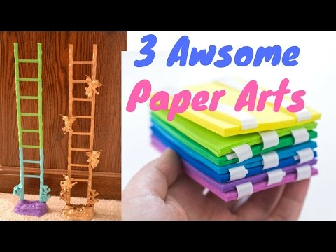 3 Amazing Paper Arts You can Try At Home | Creative Paper Crafts PrayogShala | Hindi