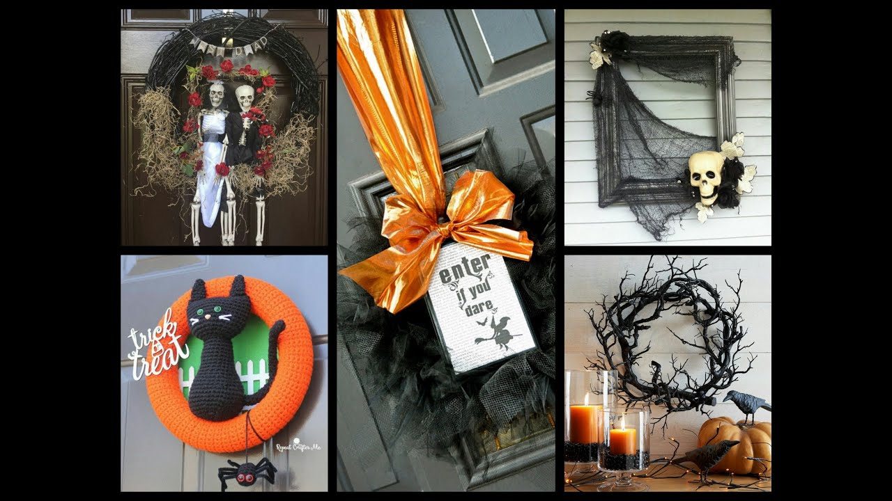 diy halloween wreath ideas  halloween decorating ideas  youtube - diy halloween wreath ideas  halloween decorating ideas