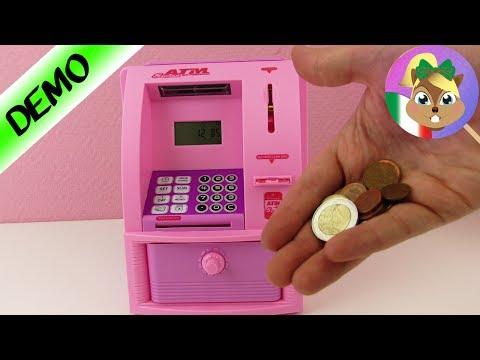 Cassaforte glamour a casa! Le banche le odieranno! Cassa di risparmio rosa con stickers!