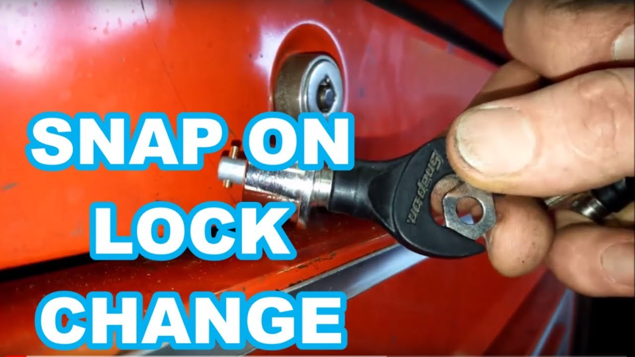 Snap On lock cylinder change REPLACE tool box key EASY ...