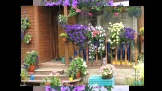 Чудесные подвесные кашпо в оформлении дома(Гордые петунии, уличные герани, настурция или базилик - они все чудесно вписываются в дизайн дома! Фантазиру..., 2014-08-02T16:41:22.000Z)