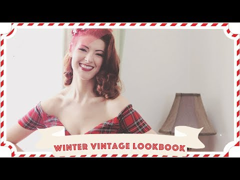 Vintage Winter Lookbook // Vlogmas Day 15