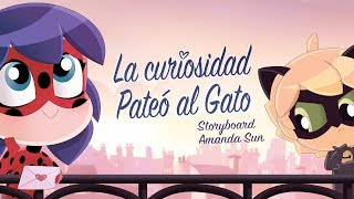 MIRACULOUS CHIBI - LA CURIOSIDAD PATEÓ AL GATO