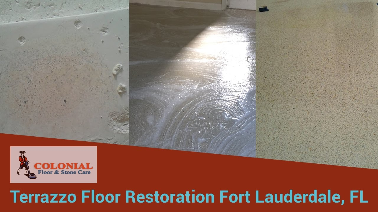 Terrazzo Floor Restoration Services Near Fort Lauderdale FL YouTube - How to care for terrazzo floors