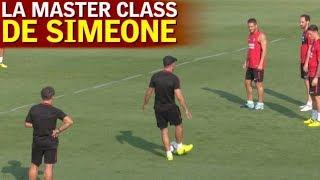 Simeone paró el entrenamiento para dar una master class a sus jugadores!   Diario AS