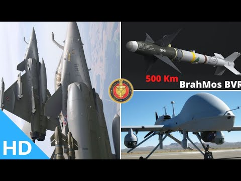 Indian Defence Updates : India's 500Km BrahMos-A BVR,Naval U