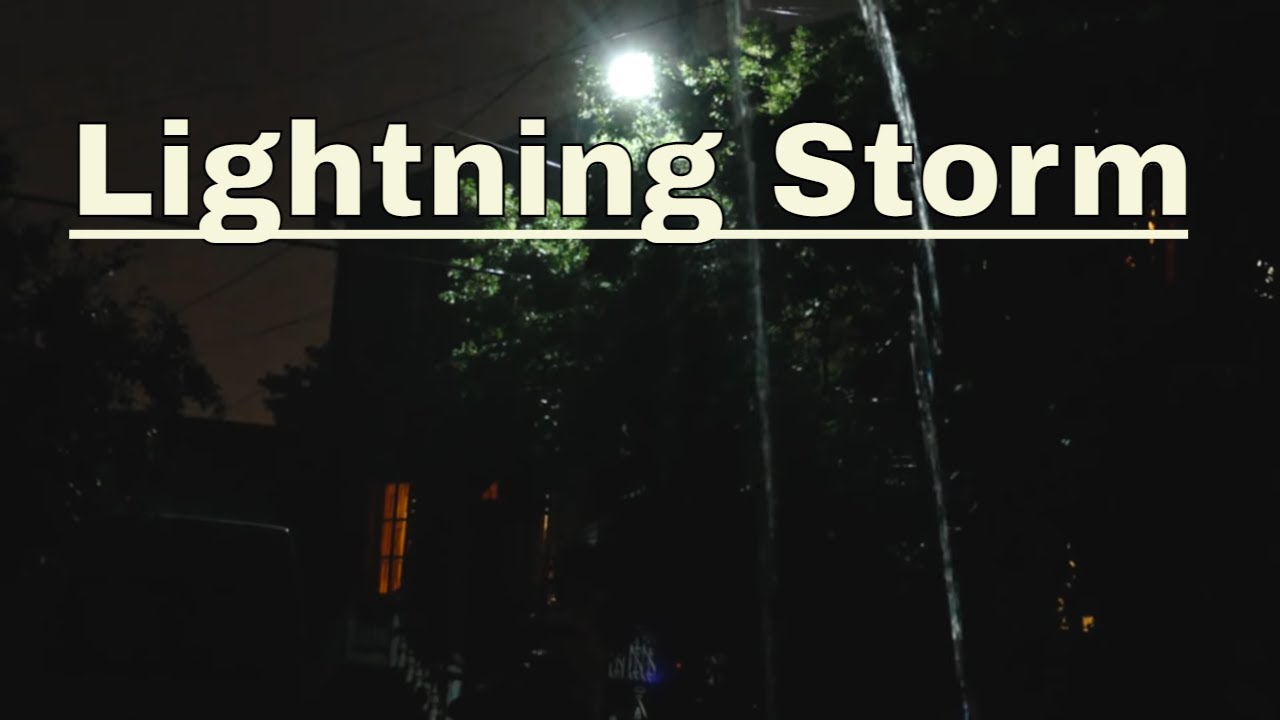 Night Thunderstorm - Heavy thunderstorm sounds for sleep ...