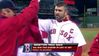 MLB: Varitek's walk-off single scores Ramirez