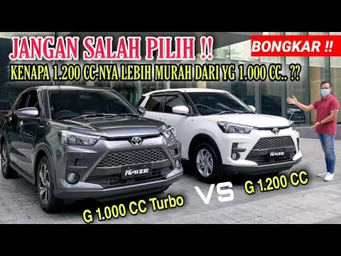Bongkar !! Perbandingan Toyota Raize 2021 Tipe G 1.200 CC Vs G 1.000 CC Turbo    Exterior U0026 Interior