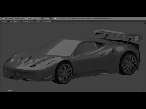 Ferrari 458 Italia GT2 timelapse - blender car modeling