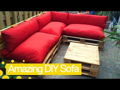 How to make a sofa bed using pallets | Garden DIY