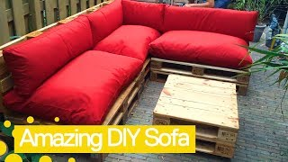 How to make a sofa bed using pallets   Garden DIY