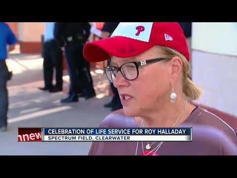 Celebration of life service for Roy Halladay