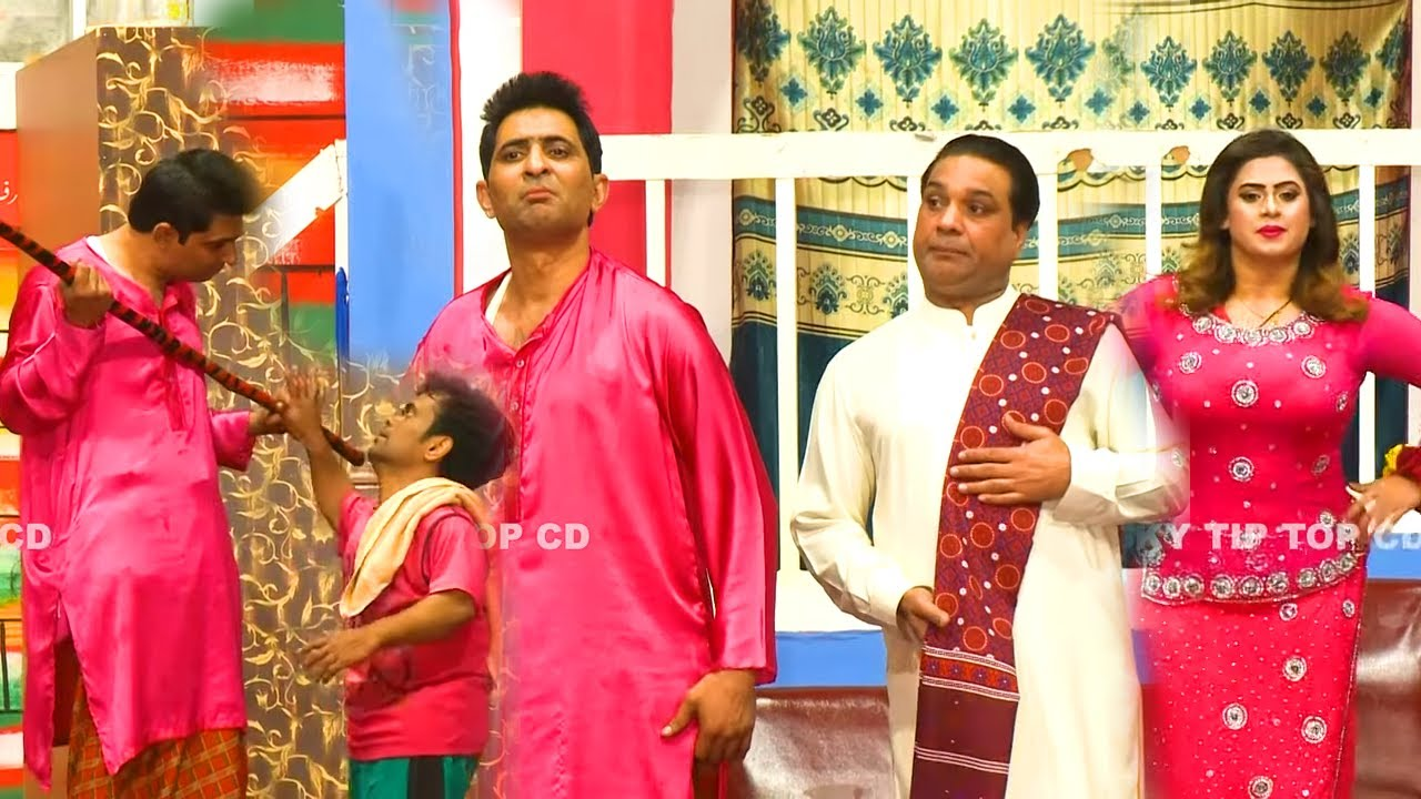Amjad Rana with Vicky Kodu and Shoka Shakotia (NEW) | Stage Drama Dil Deke Dekho | Comedy Clip 2020
