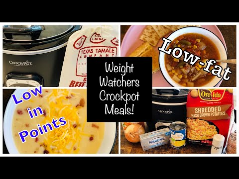 WW Crockpot Meals (so easy) Low-fat