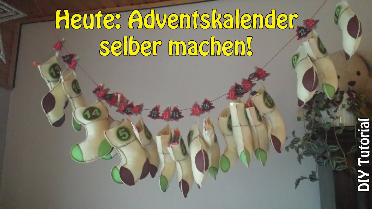 Adventskalender selber machen diy n hen f r anf nger for Adventskranz selber machen youtube