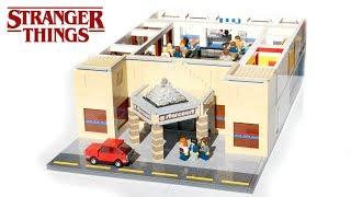 Massive LEGO Starcourt Mall From Stranger Things Full Interior