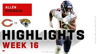 Allen robinson took in 103 receiving yards on 10 receptions to propel chicago victory. the bears take jacksonville jaguars during week 16 o...