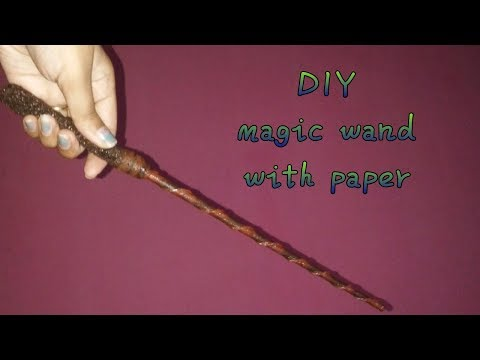 Harry Potter magic wand DIY with paper