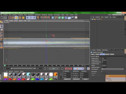 Tutorial Cinema 4D - Come creare un tubo